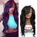 Fast Shipping Full Lace wigs with Side Part Bangs 150 density vigrin Brazilian Long Wavy Lace Front wigs for black women