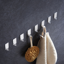 8Pcs Pack Self Adhesive Bathroom/Kitchen Wall Hanger 304 Stick on Robe Towel Family Brushed Nickel Hook Holder D20