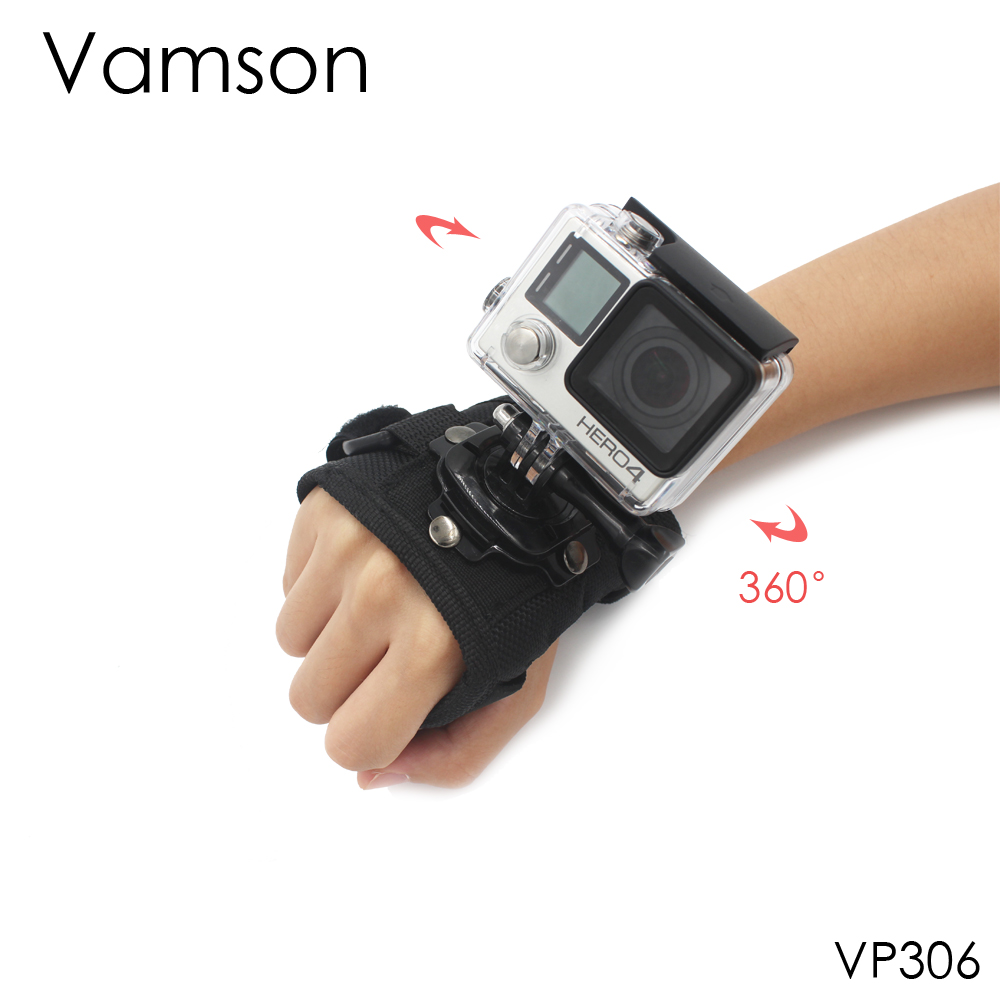 Go Pro Accessories Diving Housing Case Large Size 360 Degree Rotation Glove-style Mount For Gopro Hero 4 3+ 2 1 Xiaomi Yi VP306