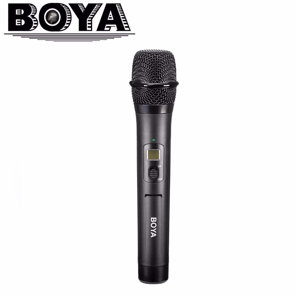 BOYA BY-WHM8 Microphone UHF transmission with UHF 48-channel for Use with BY-WM8 /BY-WM6 Receiver Wireless Handheld Mic System high end uhf 8x50 channel goose neck desk wireless conference microphones system for meeting room