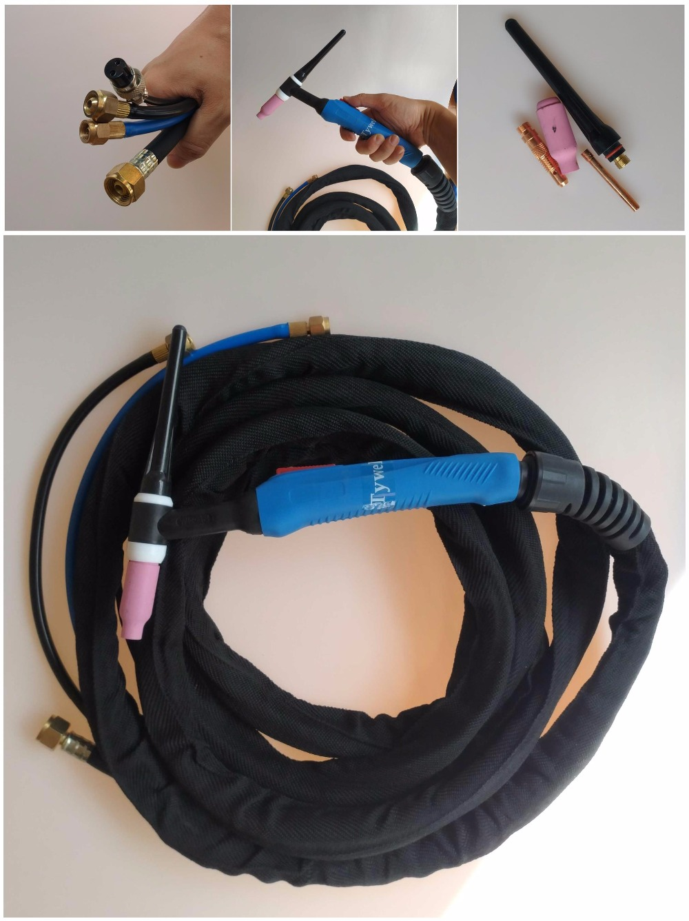 High Quality WP18 W350 TIG Gun Water Cooled Argon Tig Welding Torches WP18 WP-18 4M Cable Tig Torch