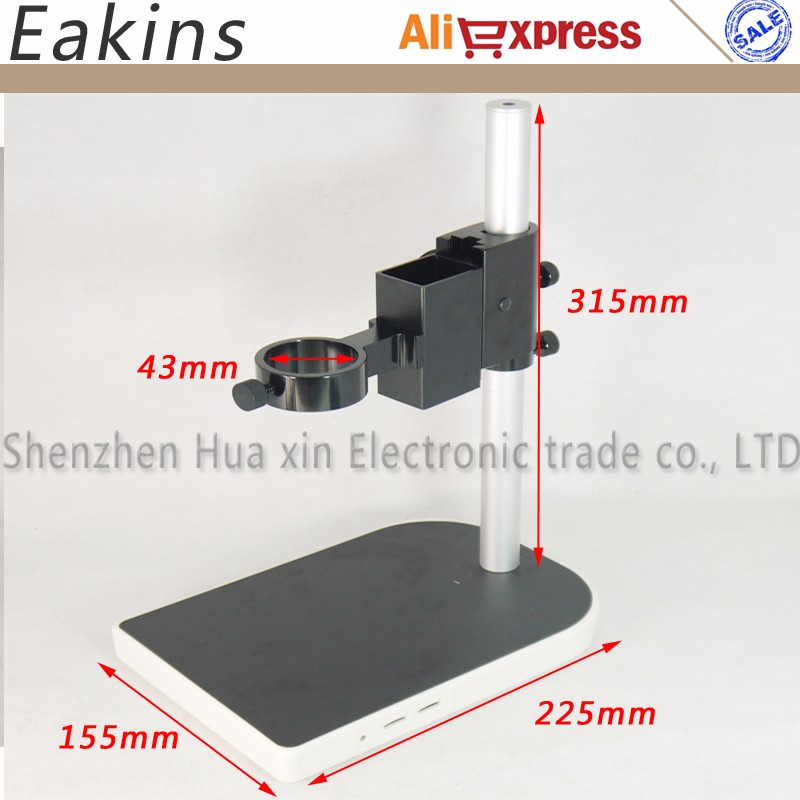 40mm Large Adjsutable Stereo Digital Industry Lab Microscope Lens Table Stand Dual Ring Holder