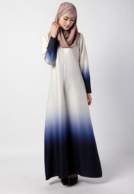 2016 New Fashion Arab Muslim Women's Jilbabs Abayas Dress Malaysian Turkish Saudi Arabia Style Caftan Floor-Length Summer Dress