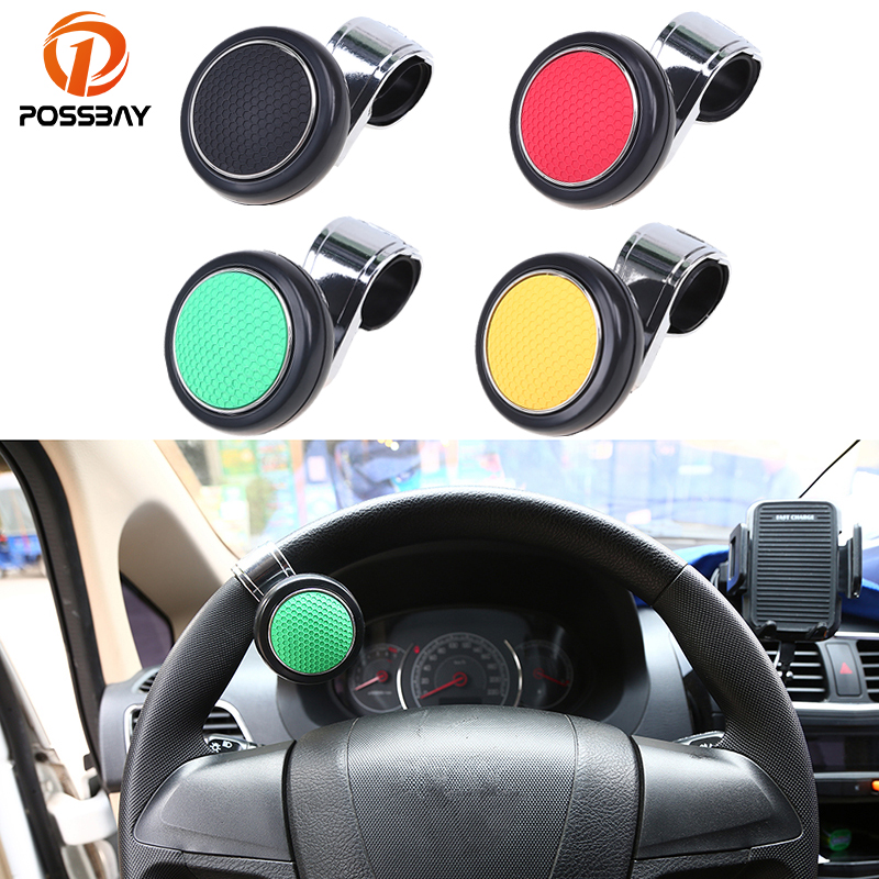 Smart Car Steering Wheel Spinner Knob Auxiliary Booster Aid Control Handle Grip Black Steering Wheel Knob Ball Turning Assistant Soft And Light Electric Vehicle Parts