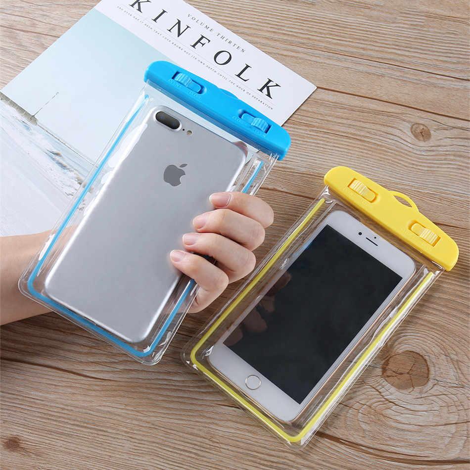 NTSPACEB Điện Thoại Chống Thấm Nước Trường Hợp Đối Với Samsung Galaxy S8 S9 Cộng Với Sáng Pouch Túi Trường Hợp Cho iPhone XR Xs Max LG huawei Xiaomi Pouch