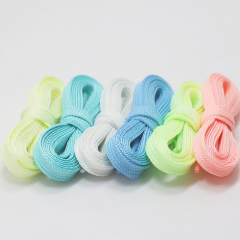 1 pair 100cm Luminous Shoelace Athletic Sport Reflective Runner Shoe Laces sneakers For Basketball Canvas Shoes