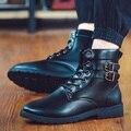 2016 de La Moda de Los Hombres Zapatos de Cuero de LA PU Botas de Invierno de Los Hombres A Prueba de agua Zapatos de Los Hombres Cómodos Del Tobillo Botas Los Hombres del ejército botas