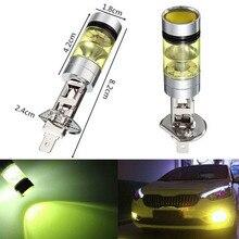 2PCS High Power LED Fog Driving Light Lamp Bulb H1 100W DRL 20SMD2835 Yellow Headlight Kit 2019 New