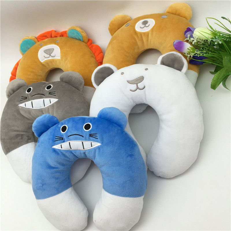 New Baby Neck Pillow Plush Toy Head Protection Soft Baby Crib Seat Cushion Kids Cute Stuffed Animals Toy Car Seat Neck Pillow