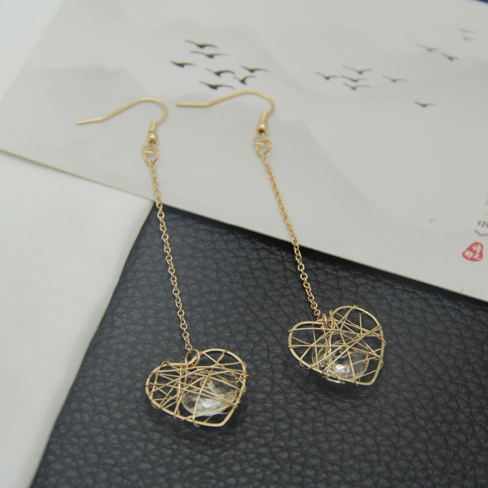 free shipping 6 pair / lot Costume Jewelry accessories wire wrapped ...