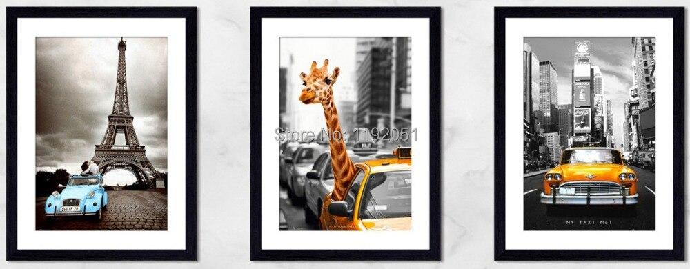 In bianco e nero quadri su tela dipinto New York Safari taxi ...