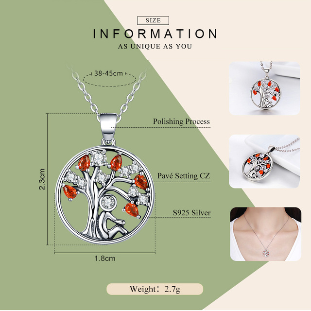 Tree of Life Sterling Silver Necklace for Women