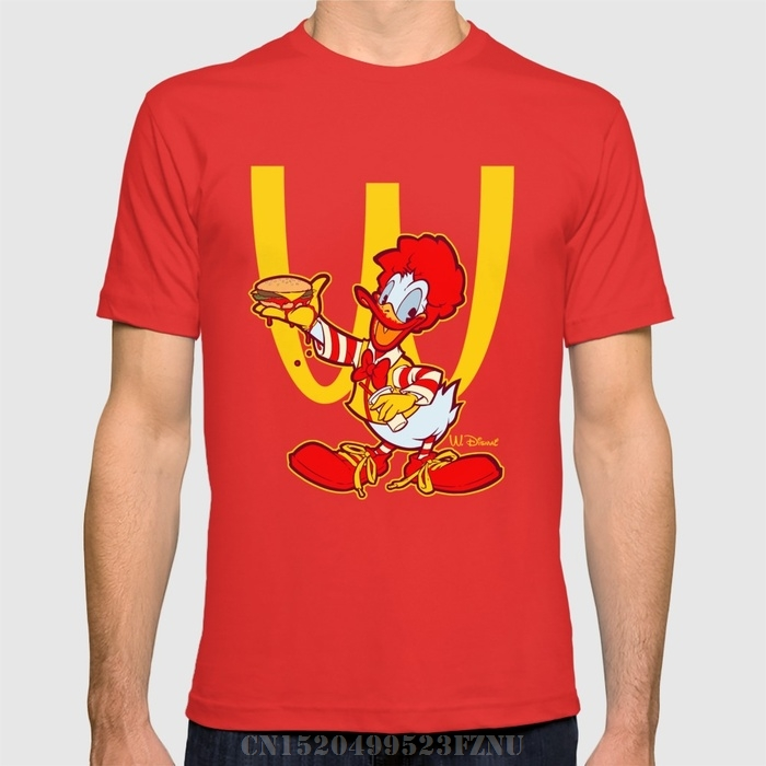 2018 black friday t shirts mens RONALD DUCK Short Cotton anime tees homme Clothing