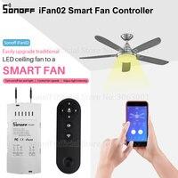 Sonoff iFan02 Fan Smart Switch Convert Fan to Wifi Smart Control Adjust Fan Speed Dimmer Controller Works With Alexa Google Home Smart Remote Control