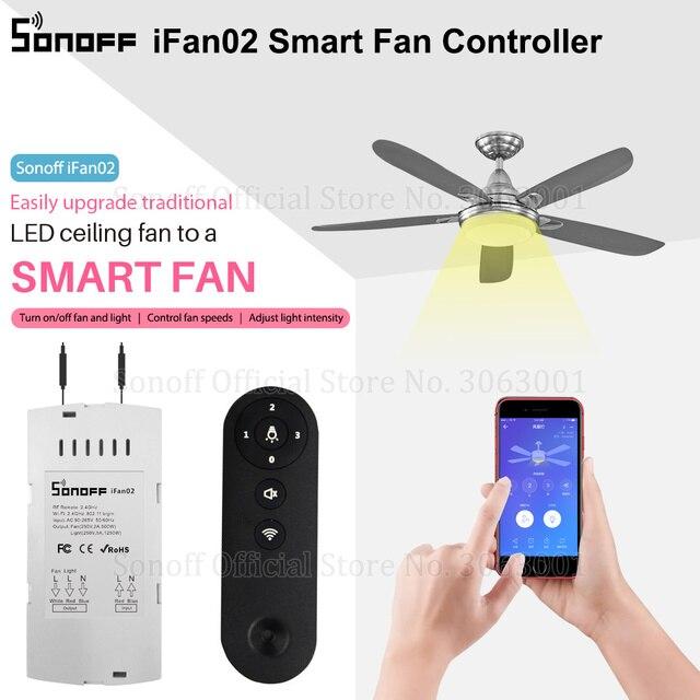 Sonoff Ifan02 Fan Smart Switch Convert Fan To Wifi Smart Control