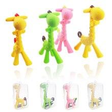 Новые детские зубов для новорожденных и детей, игрушки, не содержащие бисфенол мягкий силиконовый чехол в виде морского конька жираф прорезыватели для зубов с соска-пустышка