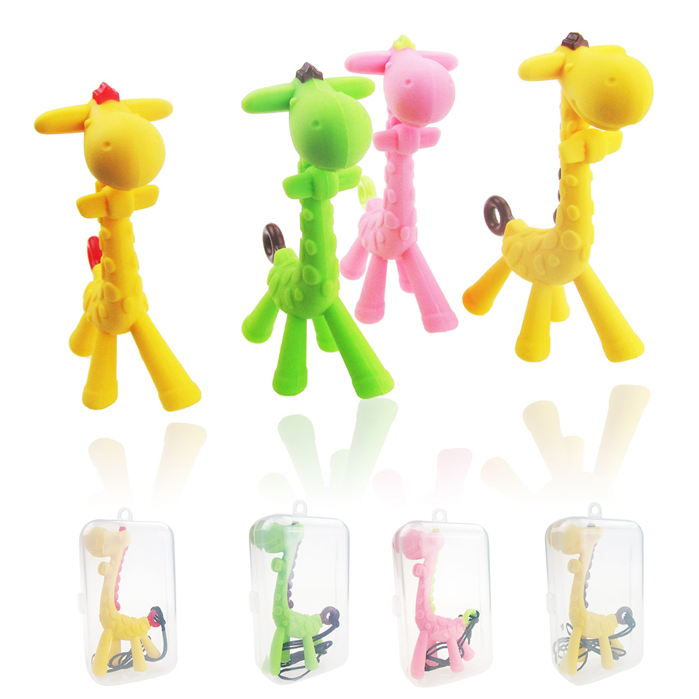 2019 New Baby Newborn Teething Toys BPA Free Soft Silicone Seahorse Giraffe Teethers With Pacifier Clip
