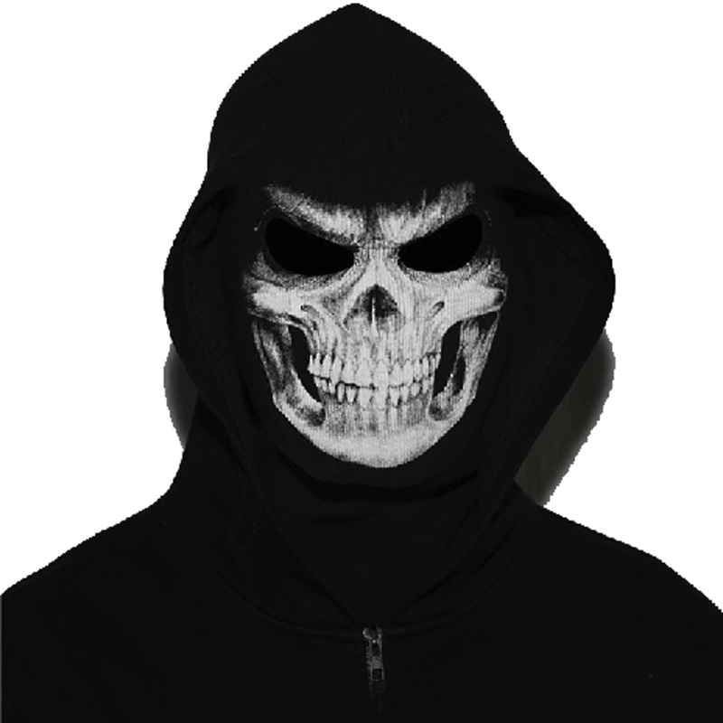Prix pour La Grande Faucheuse Plein Visage Masque Crâne Fantôme Mort Balaclava Airsoft Costume Chapeaux chapeaux Moto Paintball Halloween Masque