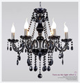 Plafon Home Deco Lighting Fixtures Modern Crystal Chandelier Plafonnier LED Pendant Candle Chandeliers Black  6 8 Lamps