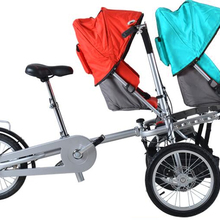 taga disabled beach garden parent-child bicycle twin mother