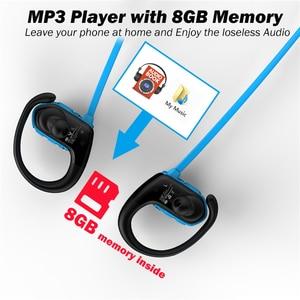Image 2 - RALYIN M2 Bluetooth ספורט אוזניות MP3 נגן Lossless אוזניות מובנה 8GB זיכרון עם אוזן וו מיקרופון IPX6 עמיד למים אוזניות