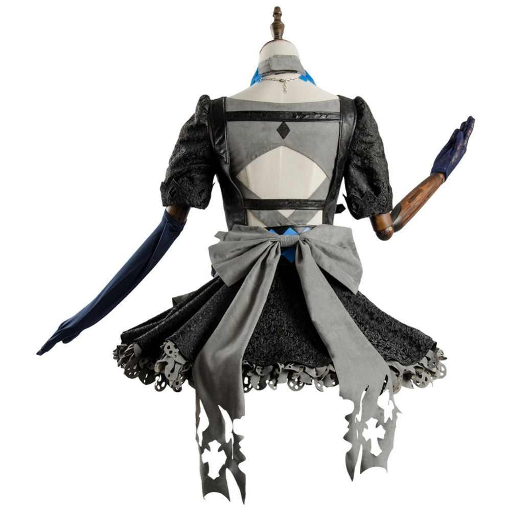 Новый Janpanse телефон игра косплей костюмы Fetter Алиса аниме детские тематические костюмы полный комплект