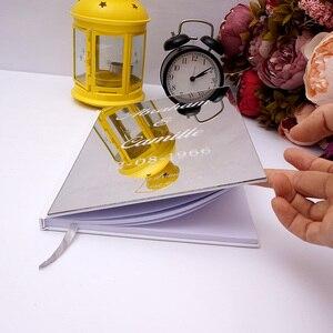 Image 4 - Kişiselleştirilmiş albüm ayna beyaz boş düğün İmza ziyaretçi defteri özel akrilik etiket konuk çek kitap parti dekor Favor