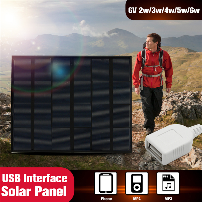 KINCO 2w 3.5w 4.2w 5.2w 6V Solar Panel Mini USB Interface Solar Cell For Phone Battery Charger DIY System For Power Bank