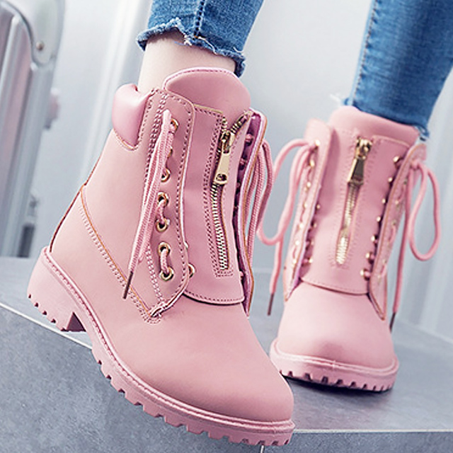 49bc13362 Ankle boots for women Cross-tied 2019 Spring/Autumn Superstar Shoes Girls  size 5.5-9 Lace-up Ladies Boot Wedges