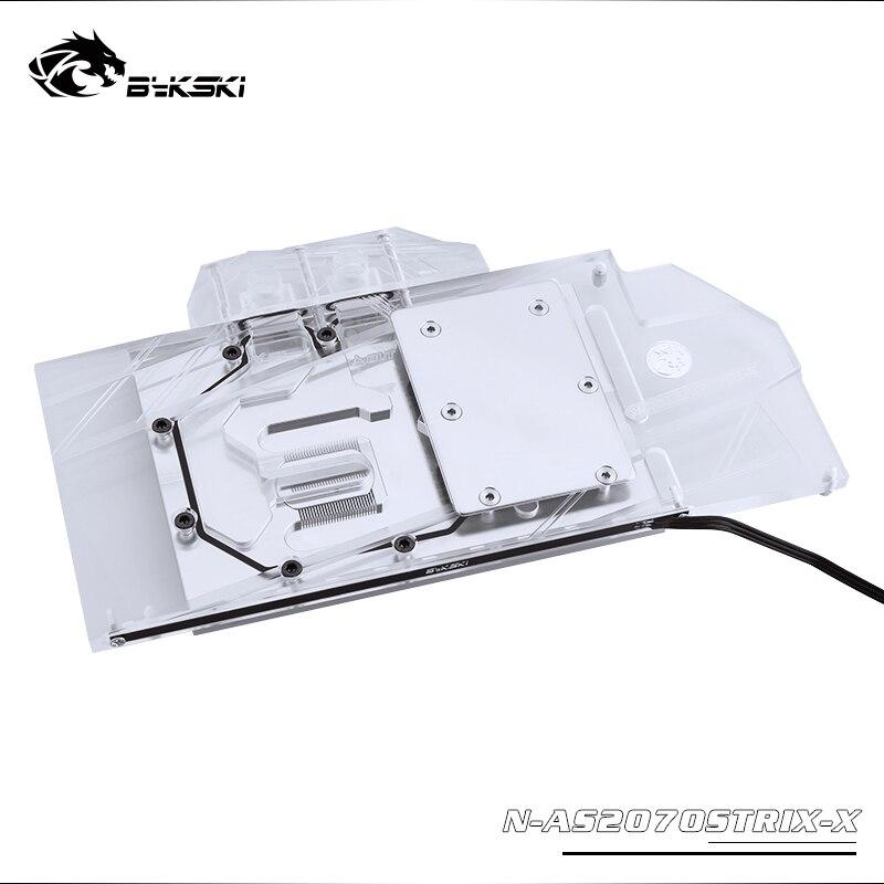 Bykski Water Block Use For ASUS ROG STRIX-RTX2070-O8G / STRIX-RTX2060-O6G GAMING / Full Cover Copper Radiator Block/RGB Light