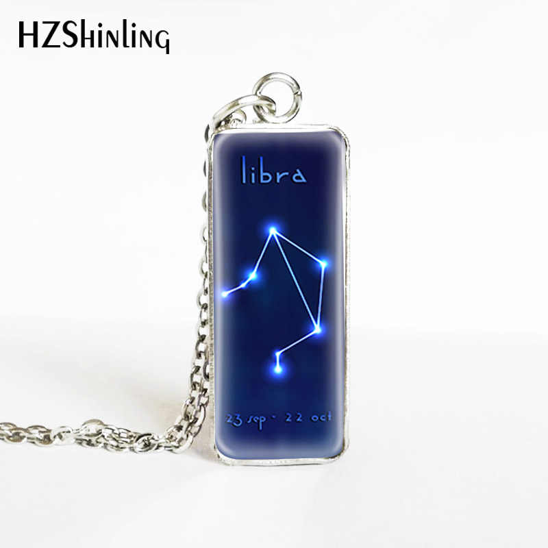 Horoscope Star Signs Zodiac Sign Stainless Steel Rectangle Pendants Jewelry Pisces Aries Sign Aquarius Sign Pendants Necklace