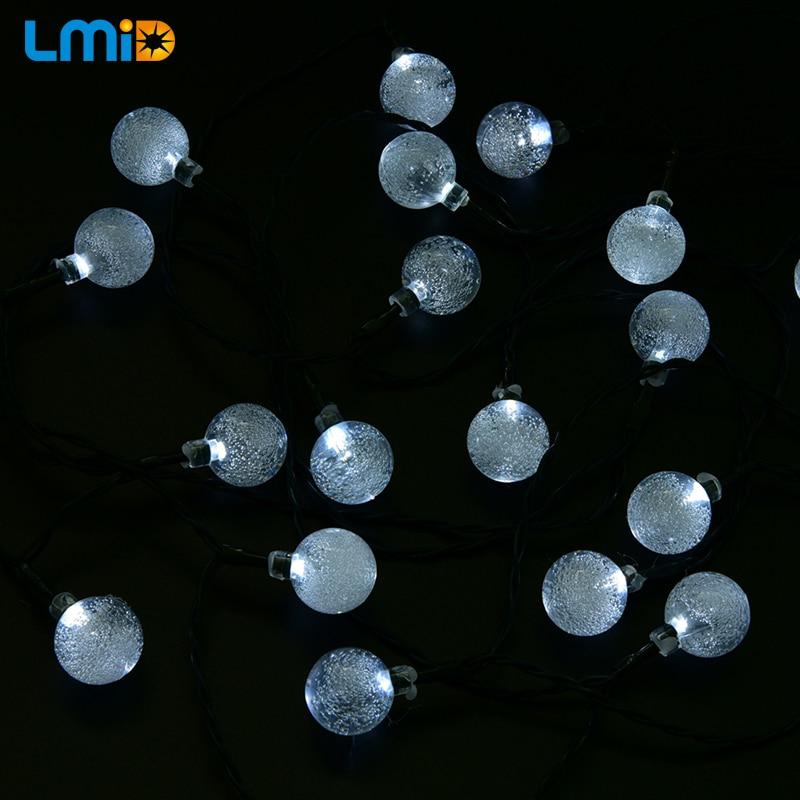 LMID Solar Lampen Kristallkugel Wasserdichte Bunte Fee Outdoor Solar - Außenbeleuchtung - Foto 4