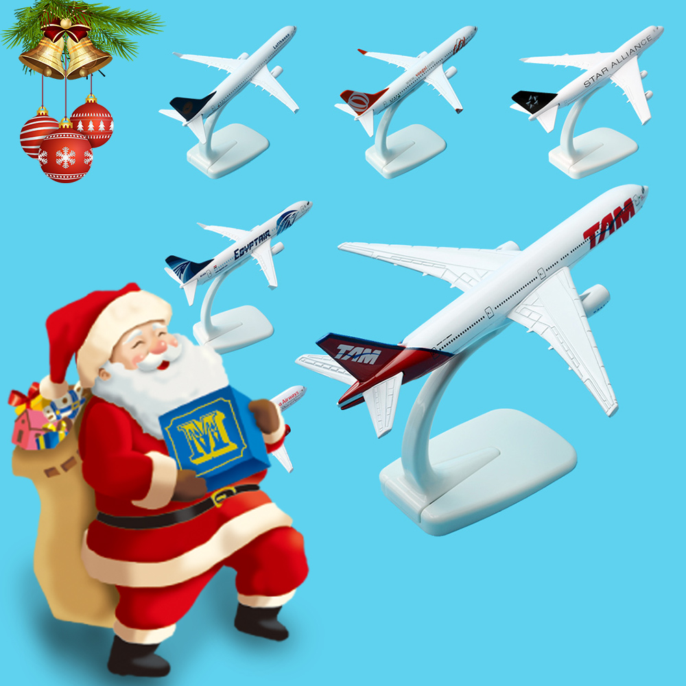 A380 A320 A330 B777 B757 16cm Global Aircraft Airplane Model 1:400 Plane Model Alloy materials Kids for Toys Baby Gift image