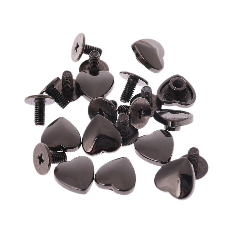 40Pcs Heart Shape Handbag Bottom Studs Rivets Screw Shoulder Bags Metal Accessories 40Pcs Heart Shape Handbag Bottom Studs Rivets Screw Shoulder Bags Metal Accessories