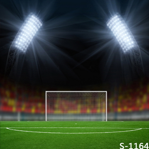 Football Stadium Night Lights: 8x8FT Spots Light Night Football Soccer Green Field Goal