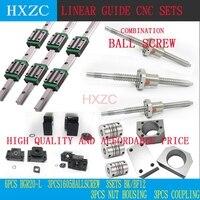 12 шт. HGH20CA площадь линейная направляющая комплекты + 3 шт. Ballscrew SFU605 + BK BF12 + Щековая Гибкая муфта Слива муфта для ЧПУ
