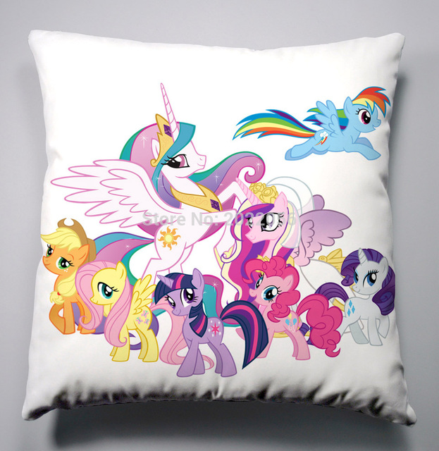 Anime Manga My Little Pony Regenbogen Pferd Kissen 40x40 Cm