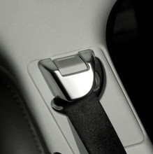 цена на 2pcs/set ABS Chrome Car Safety Belt Cover Decoration Trim For Land Rover Range Rover Sport 2014 - 2017 Car Styling