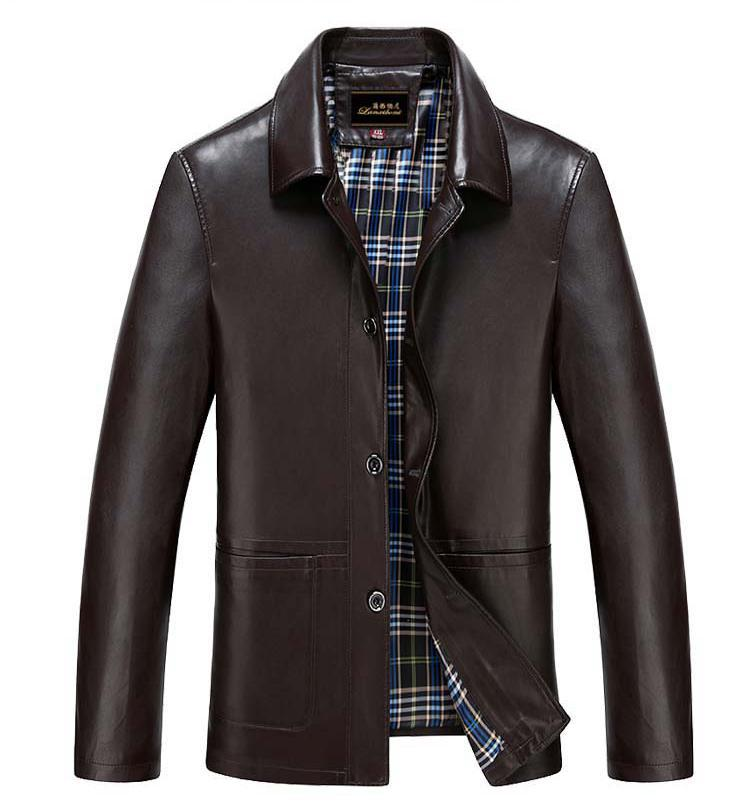 2018 NEW Casual PU JACKET High Quality Brand New Luxury Fashion Mens Leather Jacket 4Xl Business Casual Leather Jacket