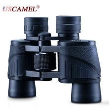 Мощный армейский HD водонепроницаемый бинокль с большим радиусом обзора профессиональный 8х40 телескопический масштабируемый бинокль для охоты и спорта USCAMEL
