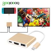 For Nintend Switch USB C To HDMI Adapter Dock GOOJODOQ USB Type C Hub To HDMI