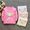 Весна девочка Футболка 2017 новый детский мультфильм слон Футболки рубашки baby girl clothing футболки