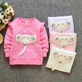 Spring girl T-shirt 2017 new children cartoon elephant T-shirt shirt baby girl clothing t-shirts