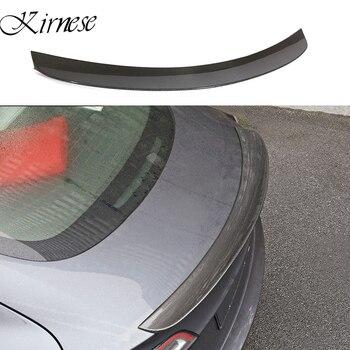 Kirnese Tesla Modeli 3 2017-2020 arka kanat spoiler Trunk Boot Kanat spoiler karbon fiber 3M kolloid kurulum
