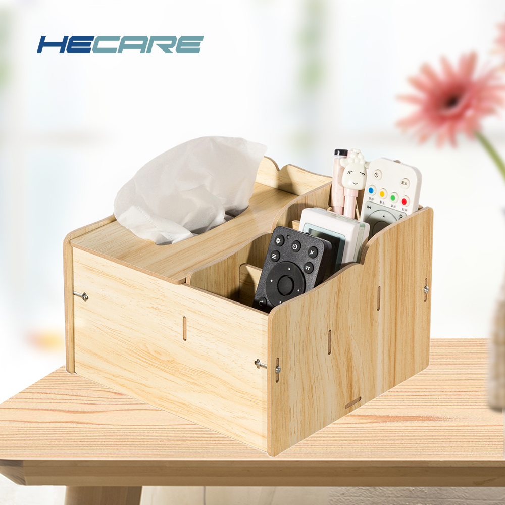 HECARE Wiping Wet Tissue Box med Container DIY Napkin Taske Træ Træ Tissue Box Cover Wet Wipes Box Vugtige Doekjes Houder