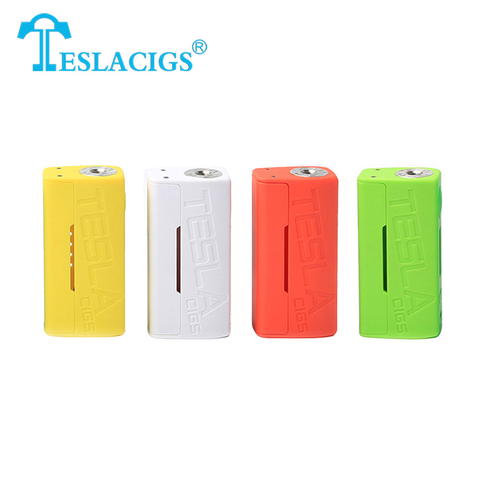 Original TESLACIGS Tesla WYE 80W Box Mod Max 80w Output Huge Power VW/TC Modes No 18650 Battery Box Mod Vs Gen3 Dual / Drag цена