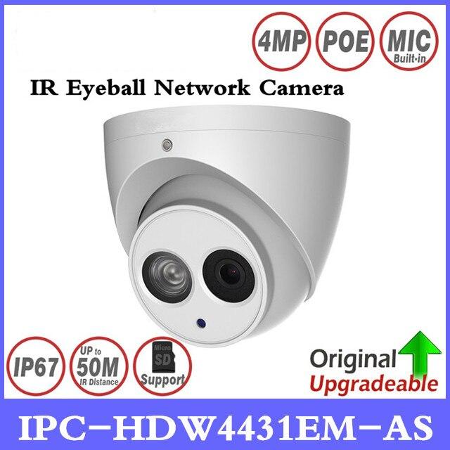 DH IPC-HDW4431EM-AS 4MP IR Globe Oculaire Caméra Réseau Micro Intégré 50 m IR Soutien Micro Sd Carte Détection Intelligente IP67 H265 WDR PoE