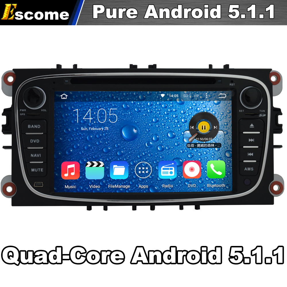 quad core 2 din android 5 1 car dvd automotivo for ford. Black Bedroom Furniture Sets. Home Design Ideas