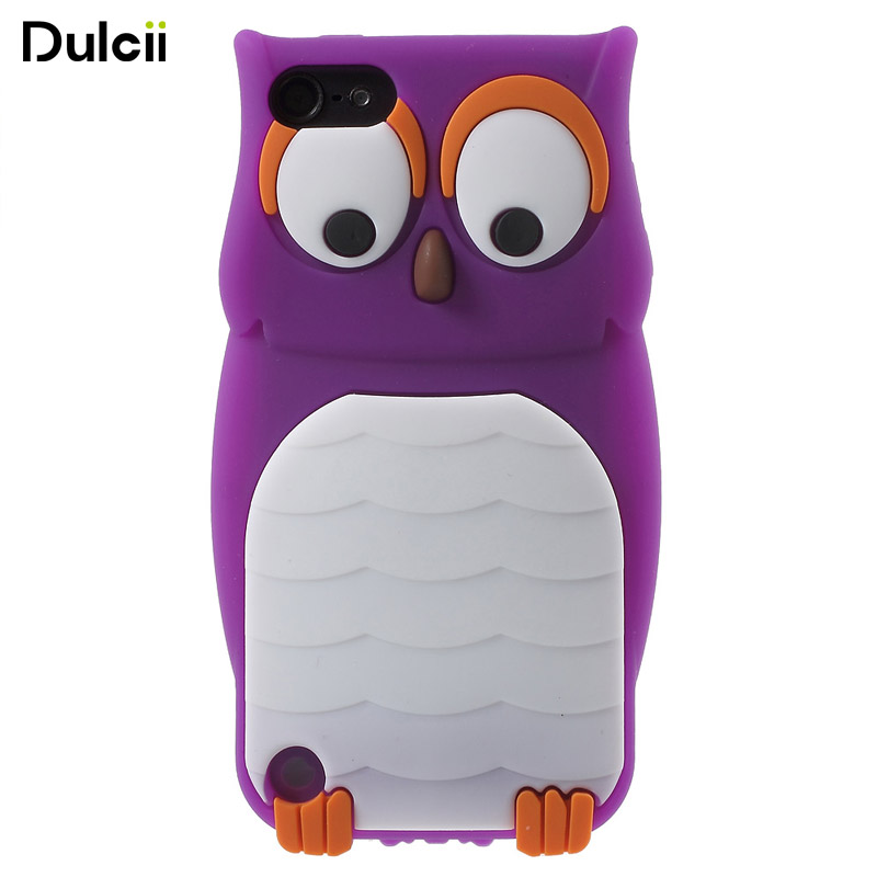 DULCII Adorable Owl Case for Apple iPod Touch 5 6 Soft Silicone Case for Touch6 Touch5 Gel Back Cover Protect Shell