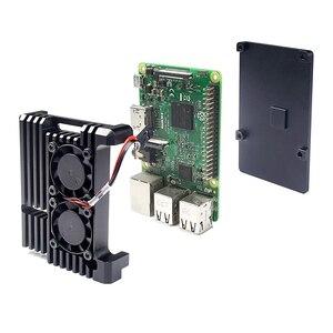 Image 5 - Raspberry Pi Armor funda, Raspberry Pi Metal Case con doble ventilador de aleación de aluminio, Raspberry Pi Fan, para Raspberry Pi 3 Modelo B +